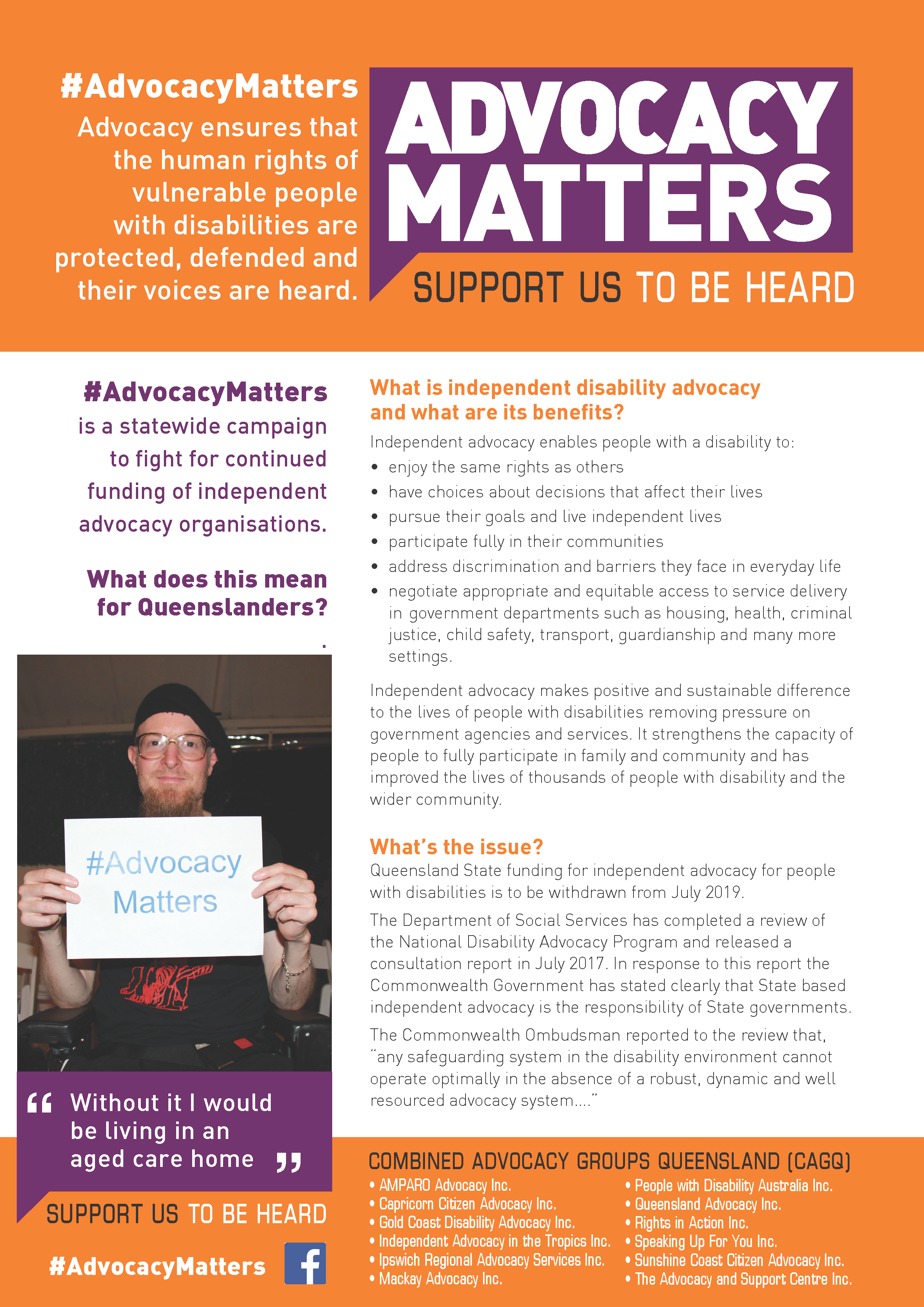 Advocacy Matters Poster